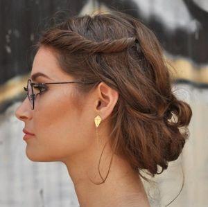 Handmade Gold-Plated Kite Earrings